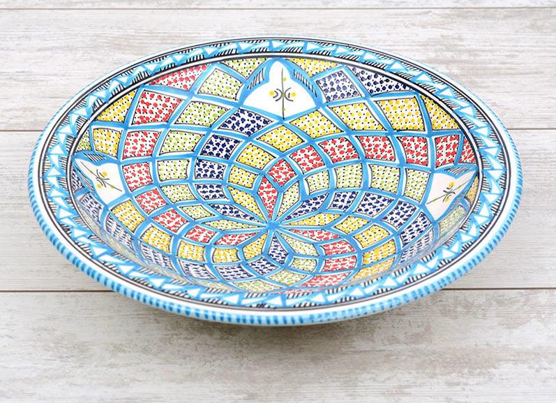 Platte schaal - 30 cm   turquoise blue