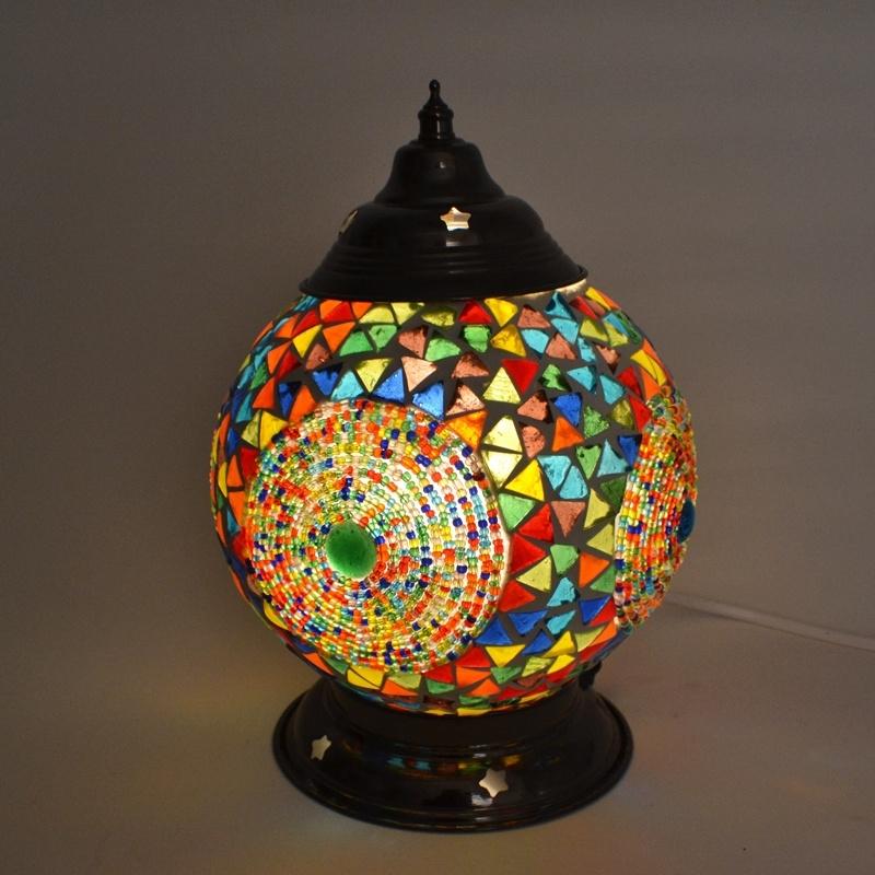 Tafellamp S - Kralen & glas | multicolor