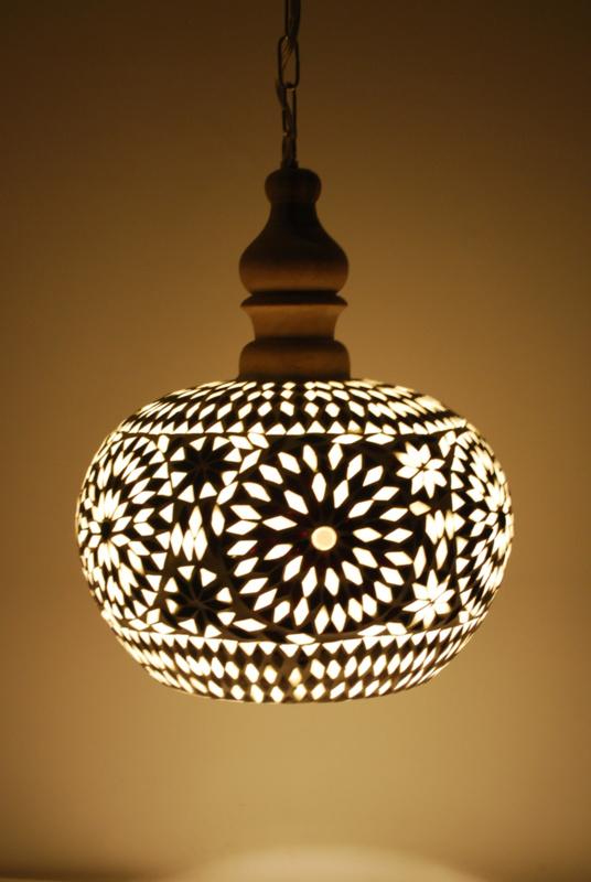 Hanglamp Open - M | zwart wit