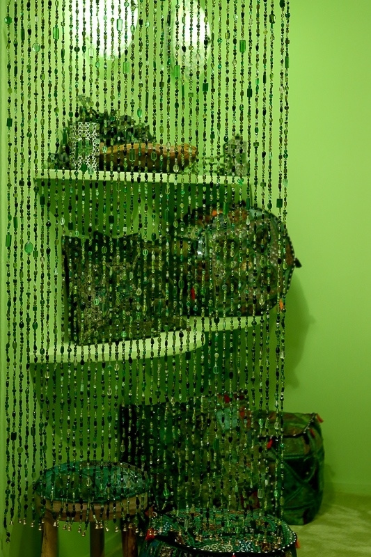 Glaskralengordijn | groen