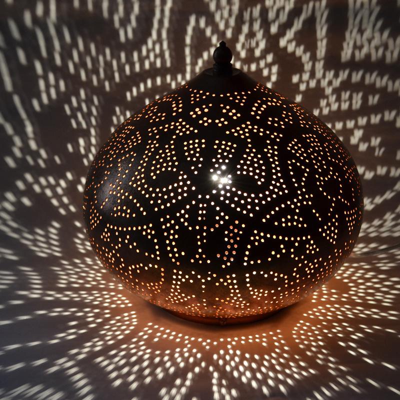 Tafellamp filigrain - klein | koper | Gereserveerd