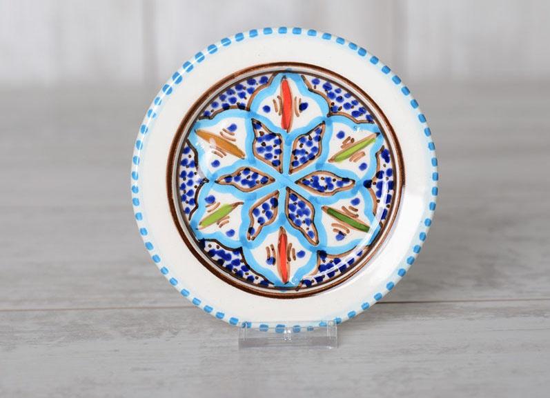 Schoteltje turquoise blue fine - 12 cm