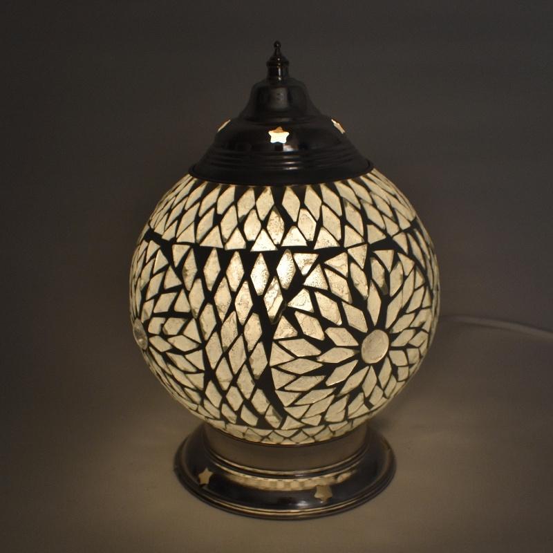 Tafellamp S - Glasmozaiek | wit