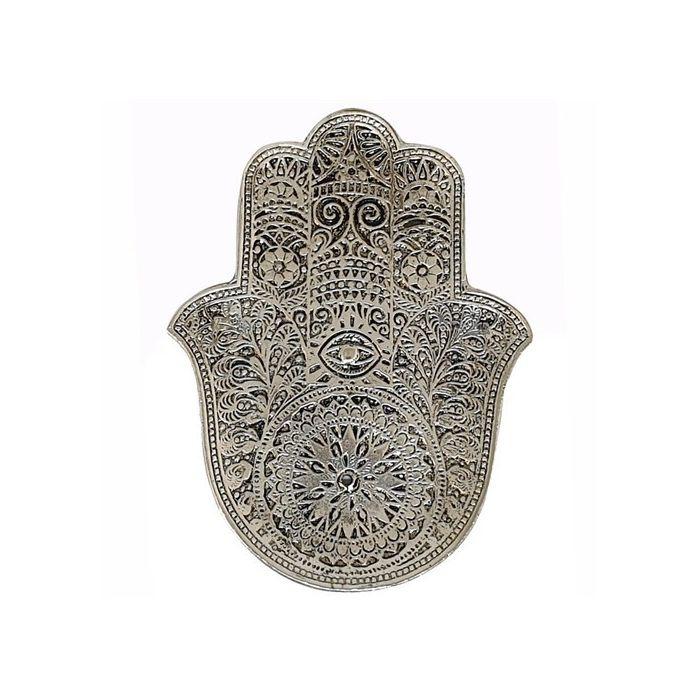 Wierookbrander   Fatimahand - zilver