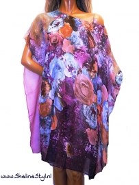 PON628  NEW IBIZA BEACH PONCHO  34 t/m 56 SOLD