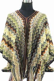 PON568 NEW IBIZA PONCHO 34 t/m 56 Reserved/Sold