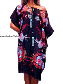 PON650 NEW IBIZA KAFTAN TUNIEK  38 t/m 58 SOLD
