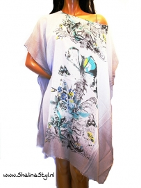 PON630  NEW IBIZA BEACH PONCHO  34 t/m 56 SOLD