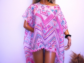 PON446 NEW IBIZA BEACH PONCHO  34 t/m 54 SOLD