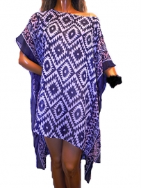 PON624  NEW IBIZA BEACH PONCHO  34 t/m 56 SOLD