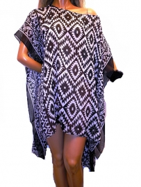 PON622  NEW IBIZA BEACH PONCHO  34 t/m 56 SOLD