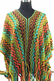 PON562 NEW IBIZA PONCHO 34 t/m 56 SOLD