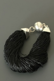 24 AR48535 BLACK NEW FASHION*JEWELRY