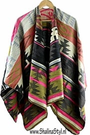 PON531 NEW IBIZA  PONCHO 34 t/m 56 SOLD