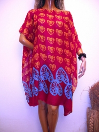 PON474 NEW IBIZA BEACH PONCHO  34 t/m 54 SOLD