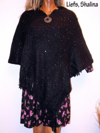 PON560 NEW IBIZA PONCHO 34 t/m 50 SOLD