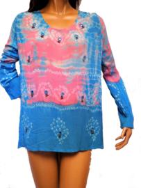 # Authentieke jaren 70 dip dye blouse / tuniek. SOLD