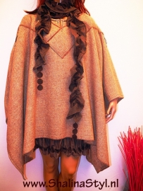 SHAL101 NEW PONCHO ShalinaS 40 42 44 46 SOLD
