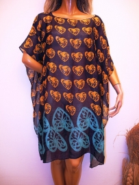 PON472 NEW IBIZA BEACH PONCHO  34 t/m 54 SOLD