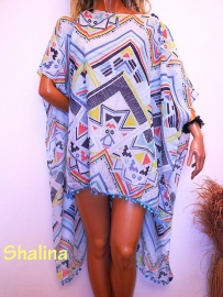 PON448 NEW IBIZA BEACH PONCHO  34 t/m 54 SOLD