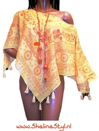 PON532 NEW Sale IBIZA BEACH PONCHO 34 t/m 54