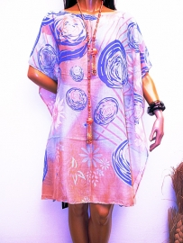 PON464 NEW IBIZA  KAFTAN TUNIEK 34 t/m 54 SOLD