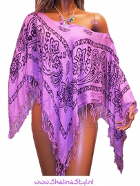 PON530 NEW IBIZA BEACH PONCHO 34 t/m 54  SOLD