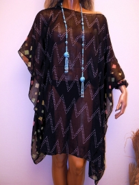 PON462 NEW IBIZA BEACH BLOUSE/PONCHO  34 t/m 54 SOLD
