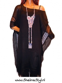 PON642 NEW IBIZA KAFTAN TUNIEK  38 t/m 58 SOLD