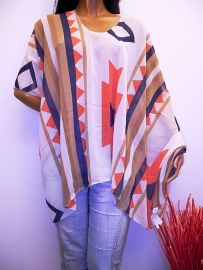 PON402 NEW IBIZA BEACH PONCHO  34 t/m 46 SOLD