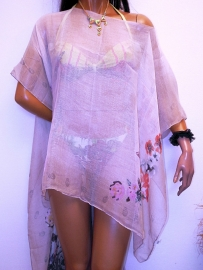 PON440 NEW IBIZA BEACH PONCHO  34 t/m 54 SOLD