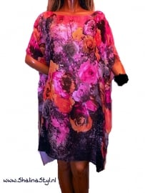 PON626  NEW IBIZA BEACH PONCHO  34 t/m 56 SOLD