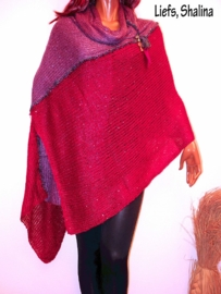 PON552 NEW IBIZA PONCHO 34 t/m 60 SOLD