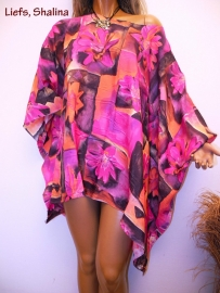 PON432 NEW IBIZA BEACH PONCHO  34 t/m 54 SOLD