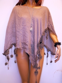 PON470 NEW IBIZA BEACH PONCHO  34 t/m 50 SOLD