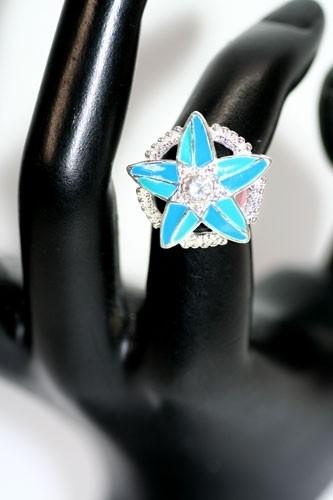 27  RING214 BLUE NEW NICKEL FREE