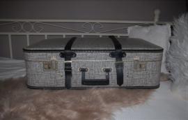 Brocante koffer, grijs