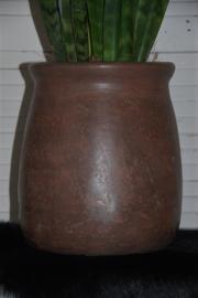 Vintage/brocante bloempot.    Hoogte 27 cm.