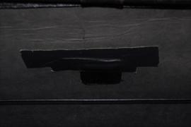 Vintage aktetas/dokterstas in zwart leer