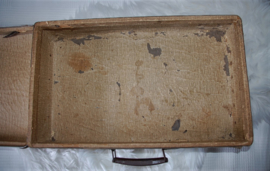 Brocante/vintage koffer, bruin