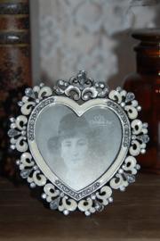 Schattig fotolijstje in de vorm van een hartje (nieuw)