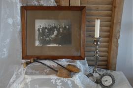 Brocante lijst met oude familiefoto