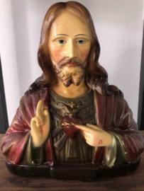 Prachtig brocant Heilig Hart Jezusbeeld