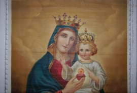 Prachtige afbeelding van Maria en kindje op canvas. ( 69 x 100 cm)