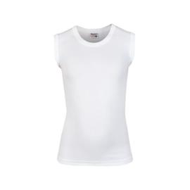 Beeren jongens mouwloos t-shirt mirco (Tactel) wit