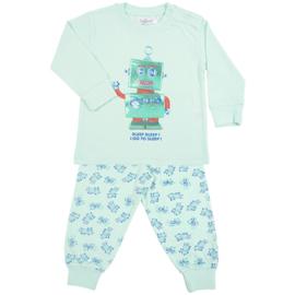 Fun2Wear Robot baby pyjama zacht groen (62-68-74)