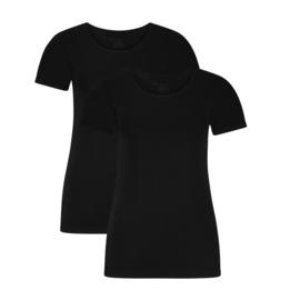 Bamboo Basics dames t-shirt Kate zwart (2-pack)