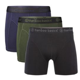 Bamboo Basics boxershort Rico-017 (black,army,navy, 3-pack)