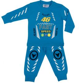 Fun2Wear Racing 46 peuter pyjama aqua (92 t/m 128)