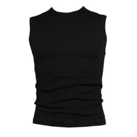 Beeren heren mouwloos t-shirt extra lang zwart